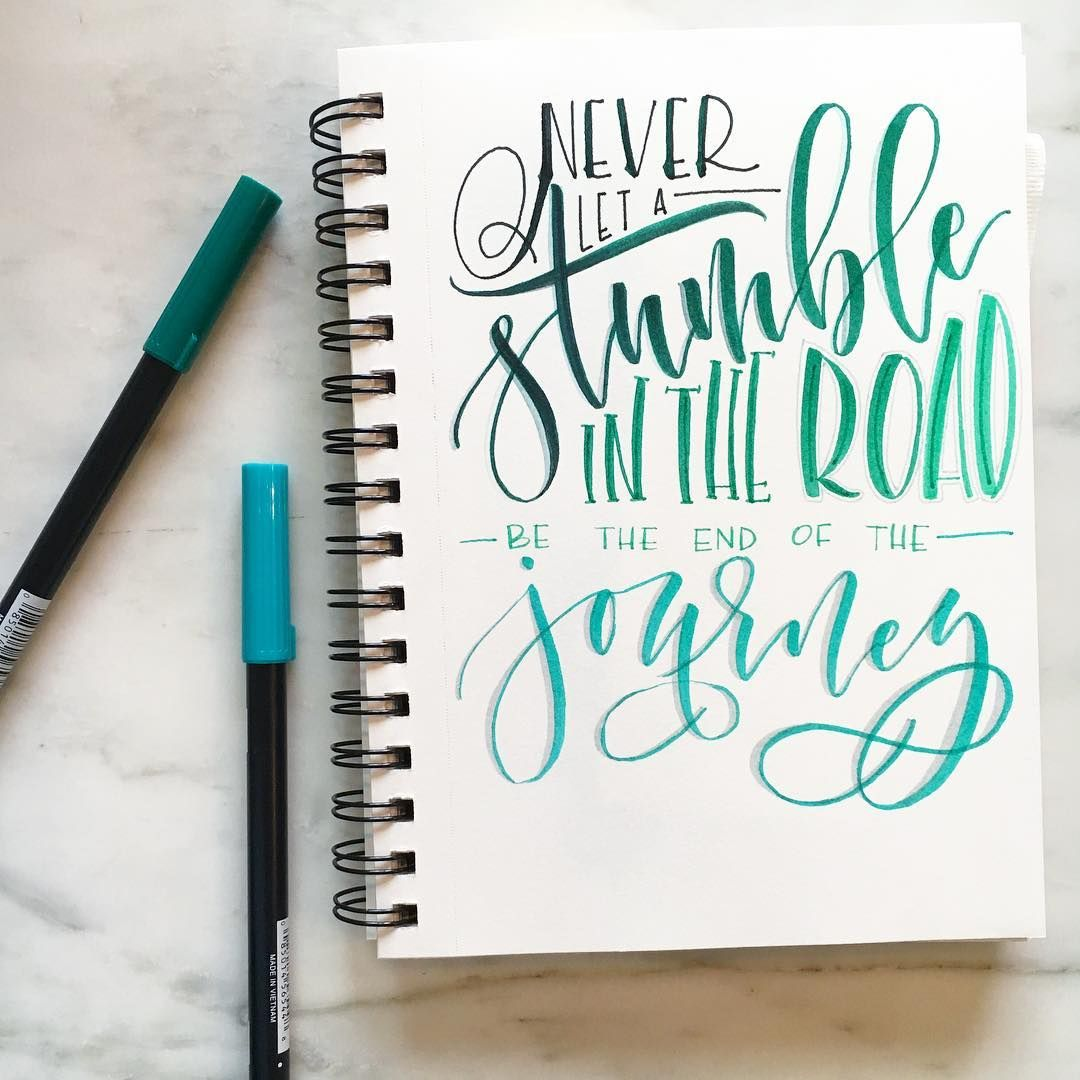 Hand Lettered Inspirational Quote With Tombow Brush
