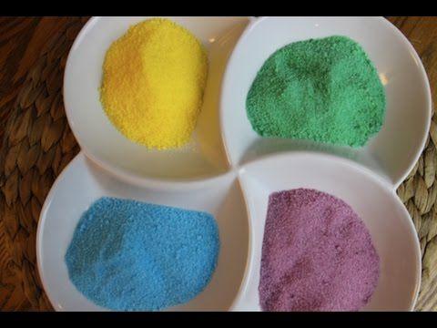 طريقة عمل السكر الملون في البيت بطريقة سهلة Easiest Mess Free Way To Make Colored Sugar Arabic Food Instant Oatmeal Food