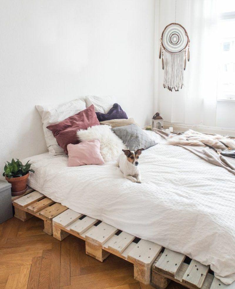 52 Diy Pallet Bed Designs Palettenbett Palletheadboard Queen