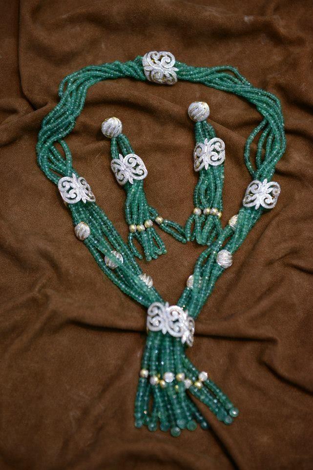 emerald-beads-necklace-design.jpg (641×960)