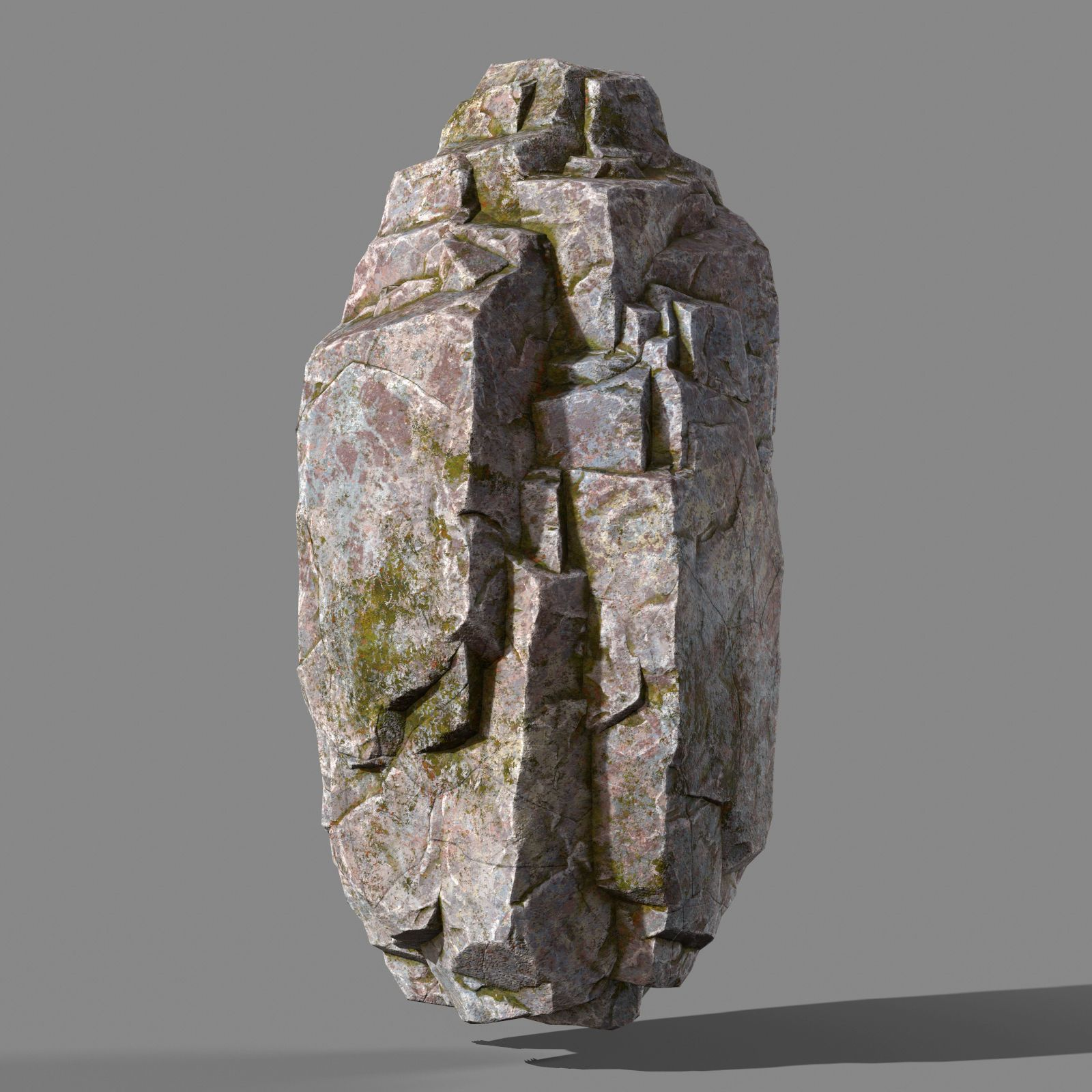 Mossy rock 3D model in 2020 Low poly 3d models, Rock