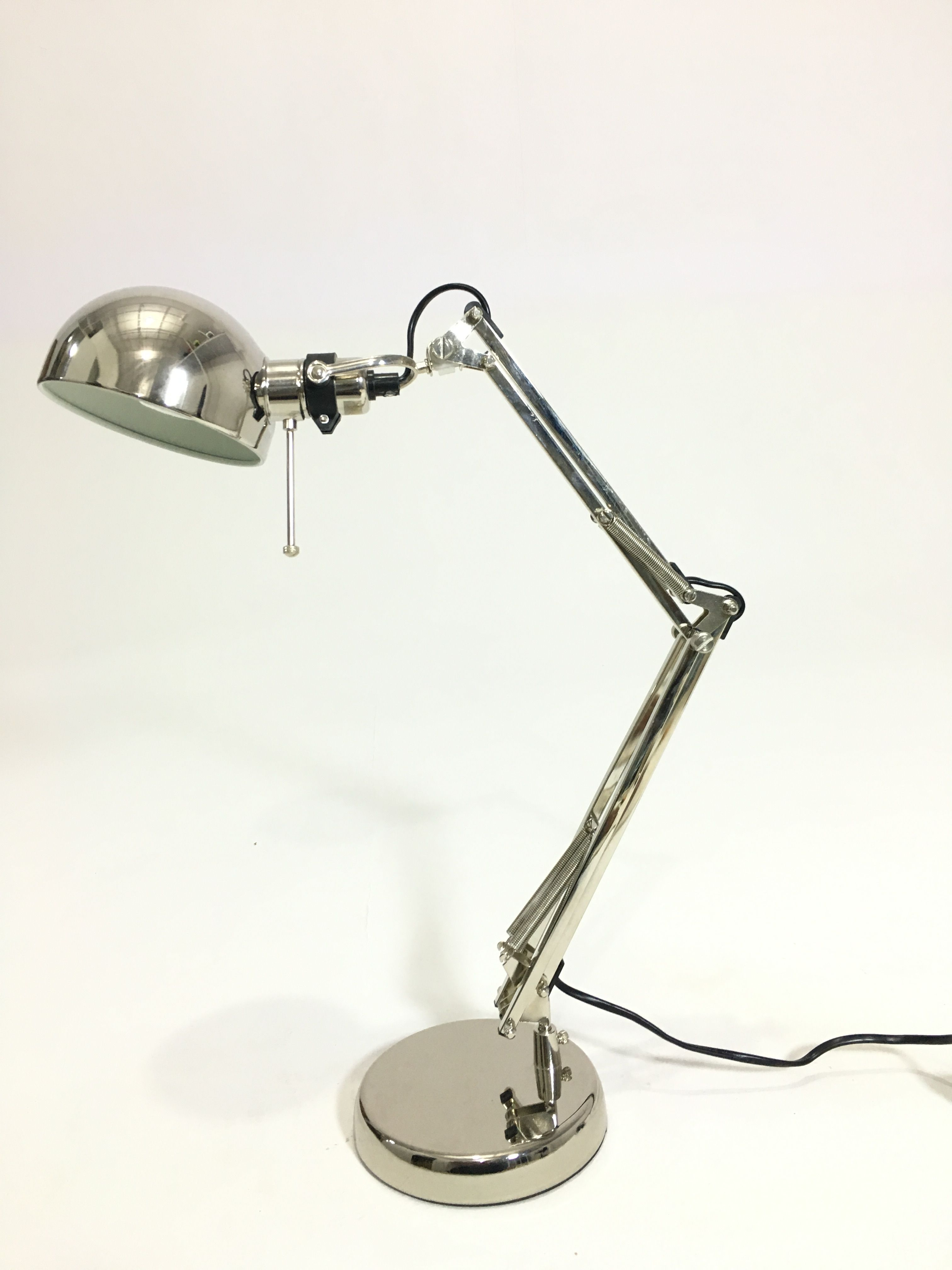 Py 5342 Study Lamp Chrome 3 Spring Adjustable Chrome Ball Shade H24 Xw6 Xd16 Lamp Study Lamps Desk Lamp