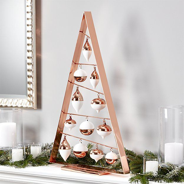 A Frame Copper Ornament Trees