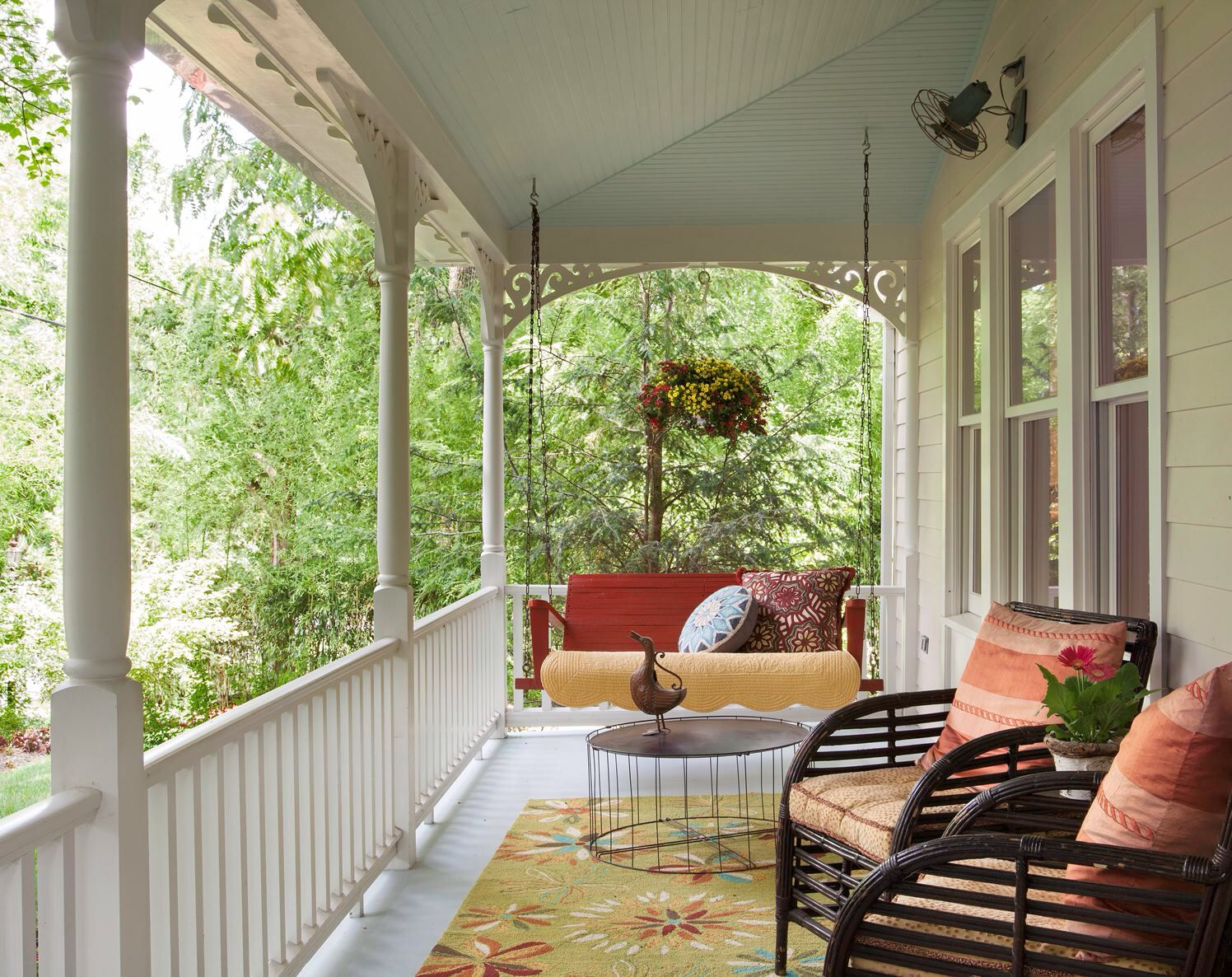 Relaxing front porch of Point Pleasant home