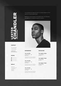 CV / Resume template with cover letter for Word, Indesign & Photoshop | A4 + US Letter | Instant Download