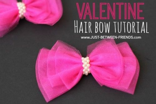 absolutely love tulle hairbows