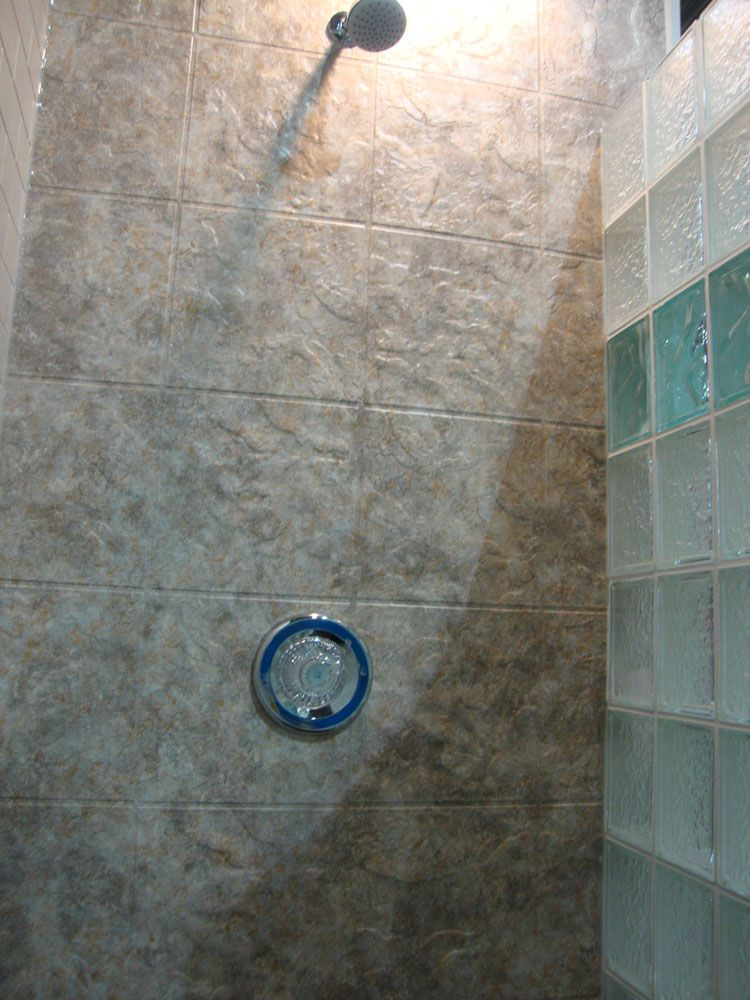 Bath & Shower Wall Surround with Acrylic, Tile & Swanstone Cleveland ...