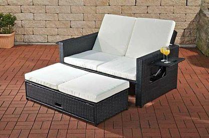 Sofa Ausziehbar Ablagen Funktionen Daybed Lounge Gartenmöbel Rattan