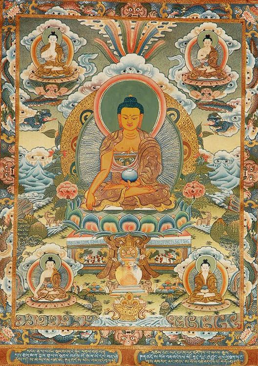 The Buddha Shakyamuni with Dhyani Buddhas