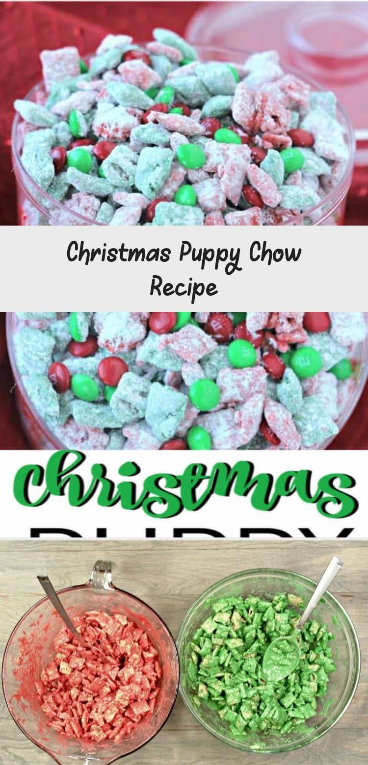 This quick and easy Christmas Puppy Chow Recipe will be a