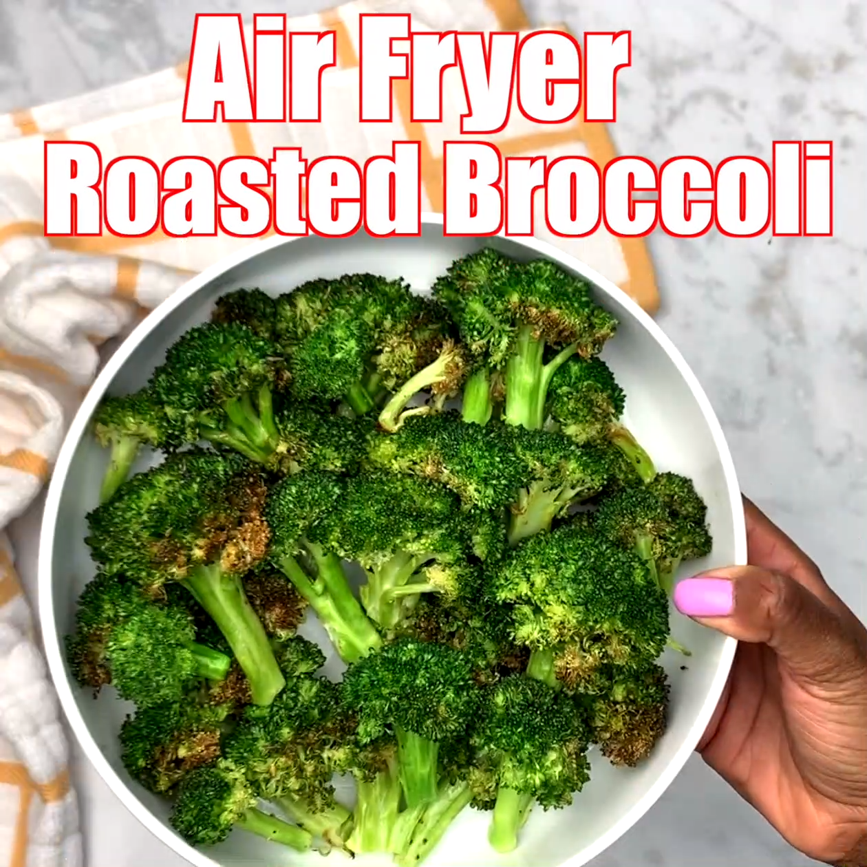 Easy Air Fryer Roasted Broccoli + Cooking VIDEO is part of Air fryer recipes keto - Easy Air Fryer Roasted Broccoli is a quick vegetarian, vegan, and glutenfree recipe that outlines how long to cook and roast broccoli in an air fryer  The cook time and temperature is illustrated along with tips on how to use frozen broccoli  This dish is also lowcarb and ketofriendly  Toss with parmesan cheese if you wish!