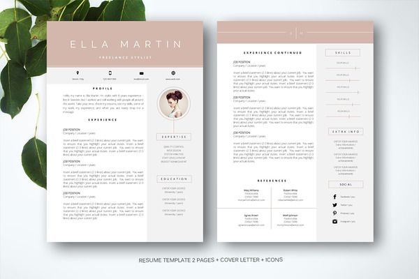 Resume Templates For Pages Resume Template For Ms Word  Resumes  1  Cv Template