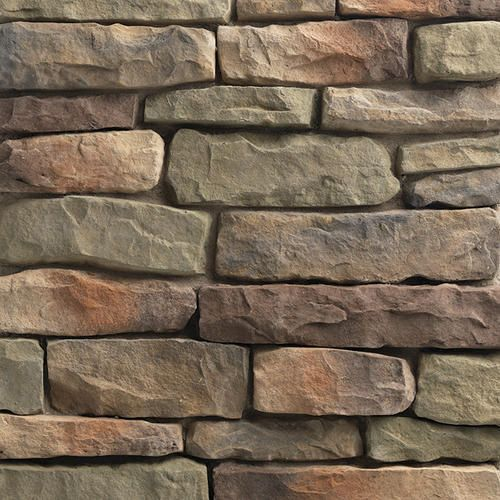 Ply Gem Stone 10 Sq Ft Shadow Ledgestone Flats At Menards Faux Stone Veneer Stone Veneer Faux Stone