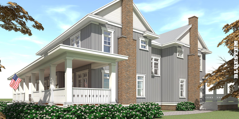 5 Bedroom, 5 Bath Farmhouse Plan. 4 Car Garage Farmhouse