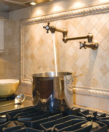 Water Faucet Above The Stove To Fill Pots Gosh This Would Be So