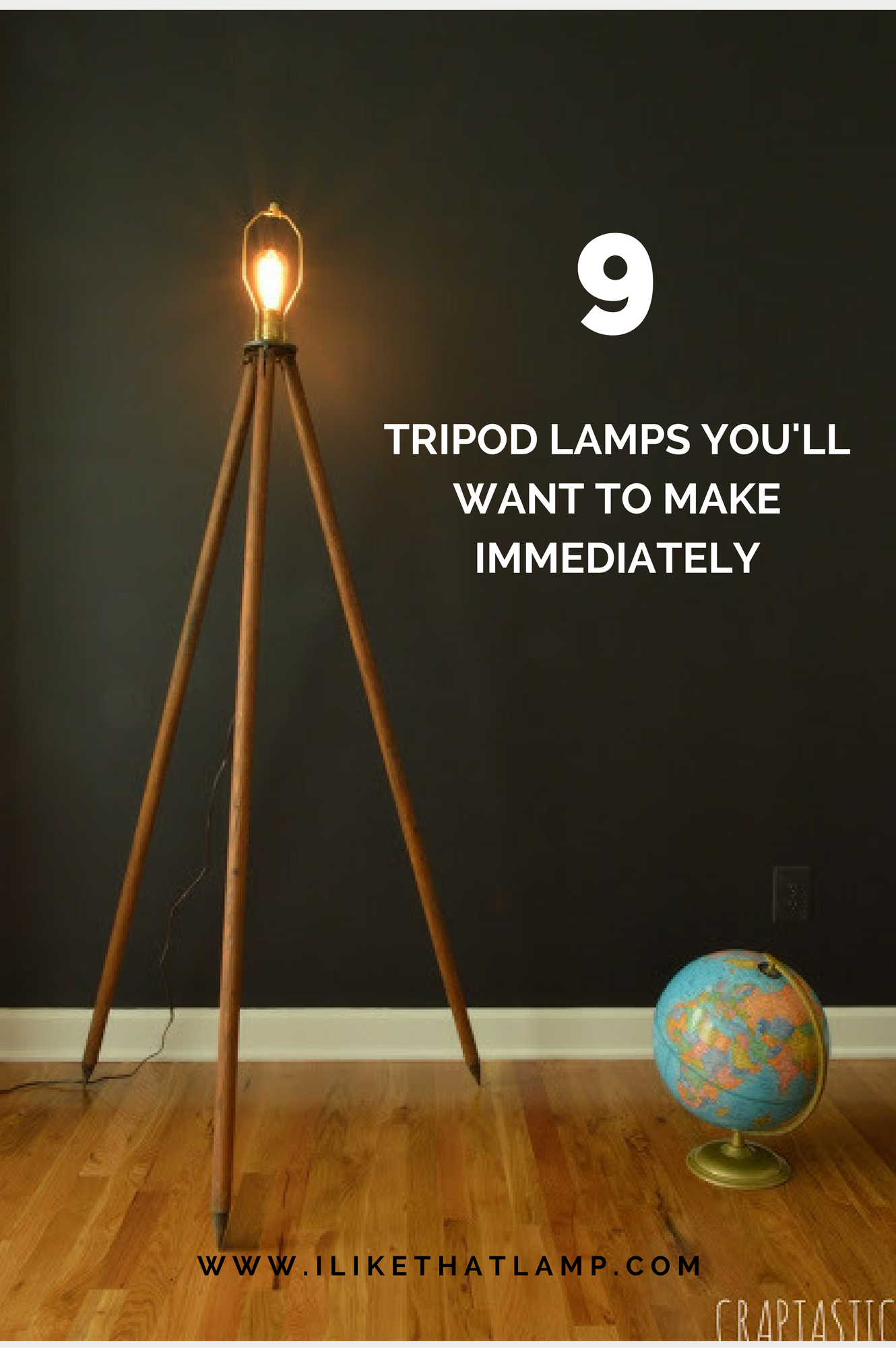 9 Diy Tripod Lamps You Ll Want To Make Immediately Lampbedroom Tripod Lamp Diy Tripod Lamp
