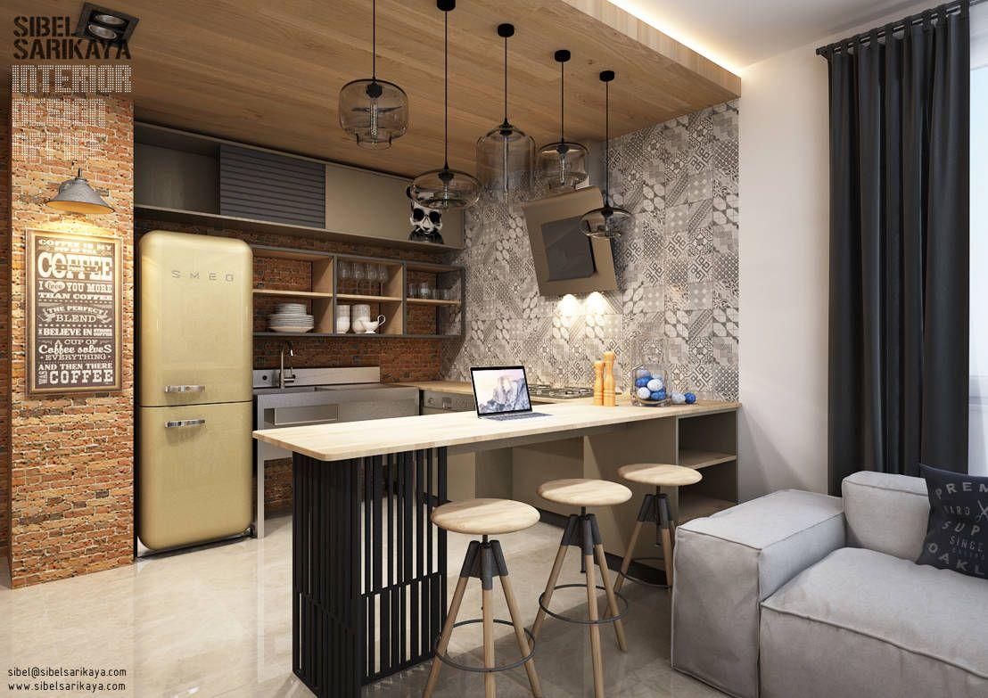 Cocinas industriales de SIBEL SARIKAYA INTERIOR DESIGN OFFICE ...