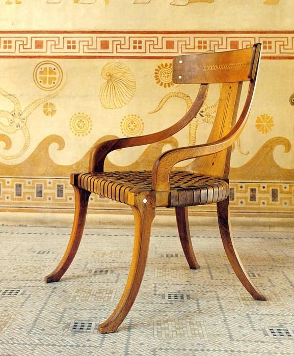 A klismos is a type of ancient greek chair. It was originated in