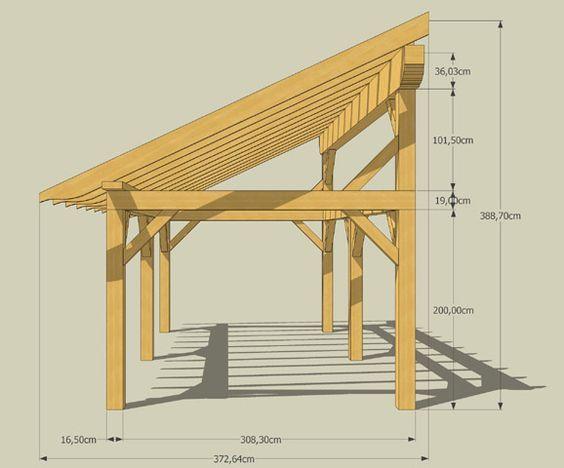 Appenti Preau 300 Cm X 600 Cm Castorama Toiture Abri De Jardin Idees Pergola Porches Rustiques