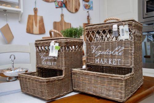 Riviera Maison Spiegel : Handgefertigte rattan korb von riviera maison für obst und gemüse