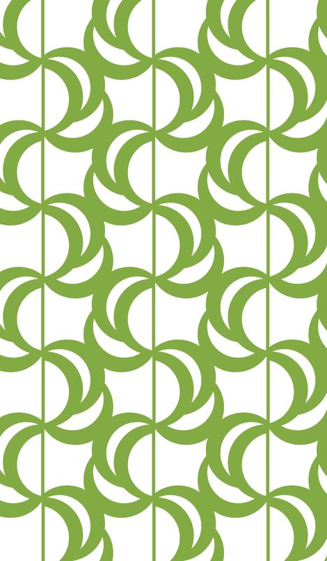 Wave Green fabric by avadesign on Spoonflower - custom fabric