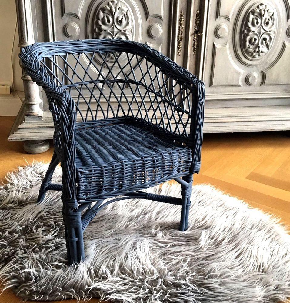 Details Sur Chaise Fauteuil Enfant En Rotin Gris Bleu Vintage 70s Chaise Fauteuil Fauteuil Enfant Et Fauteuil
