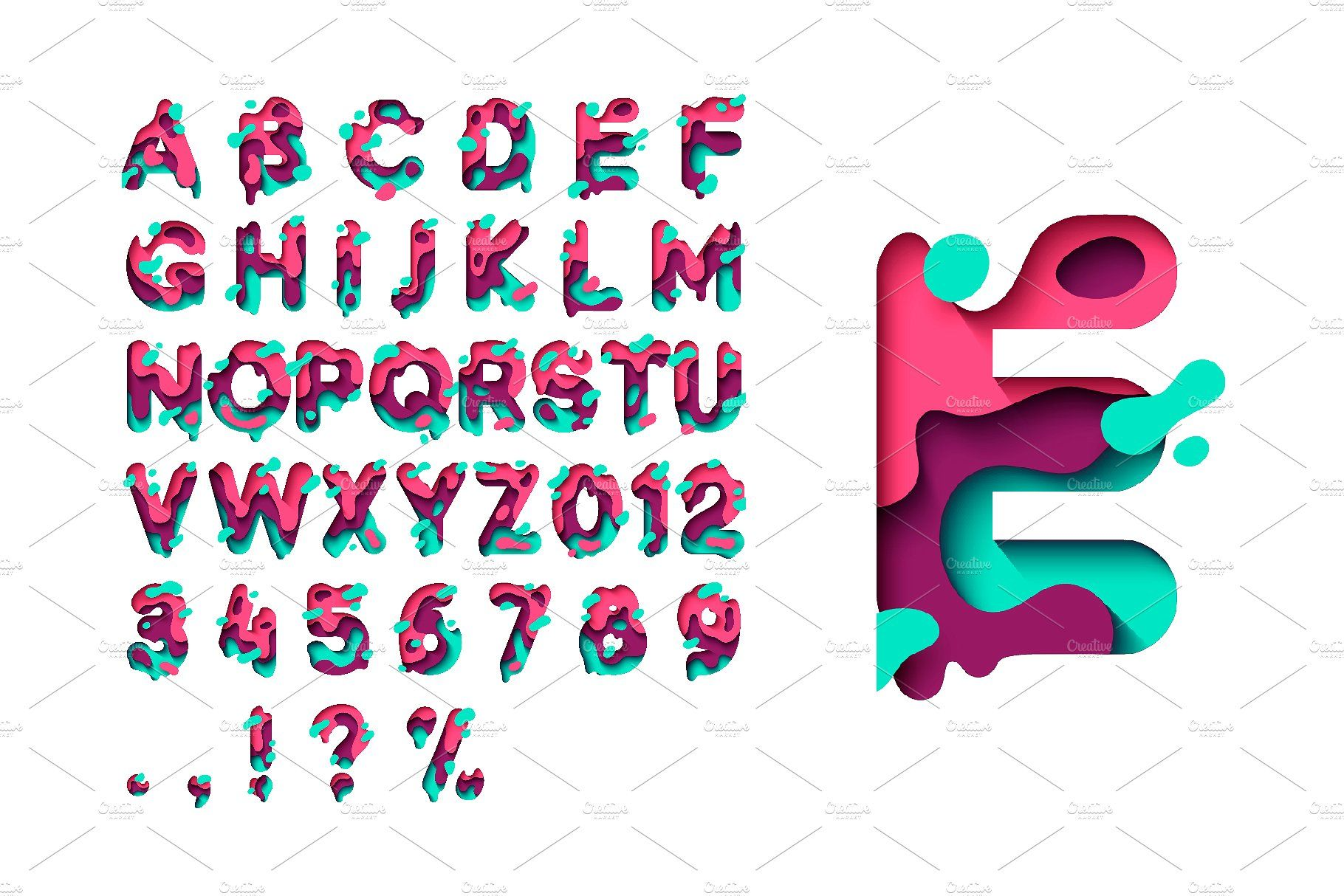 PAPER style OTFSVG Font overlayeffectsLayerContent