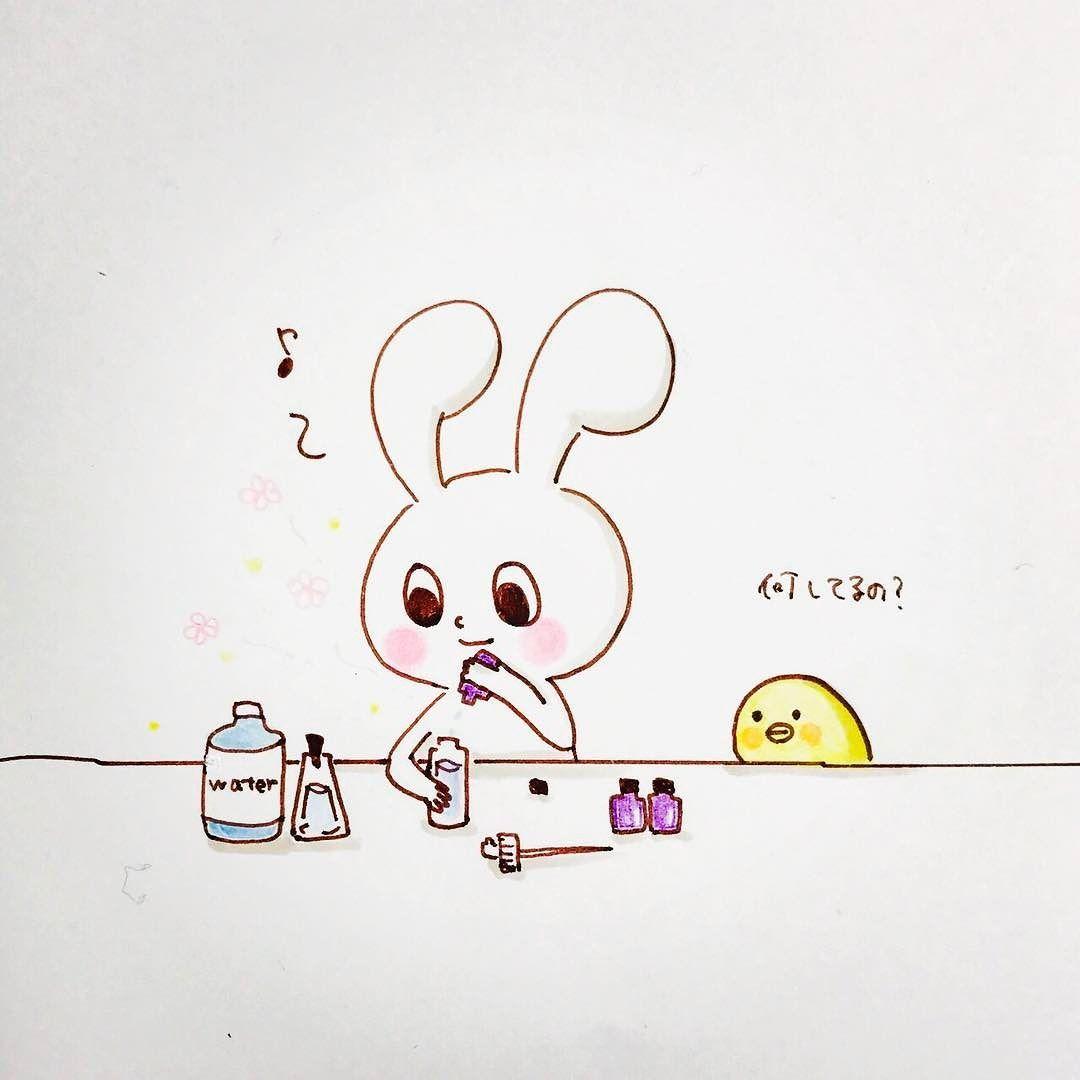 モチうさぎが何か作っています mochi-rabbit is making something
