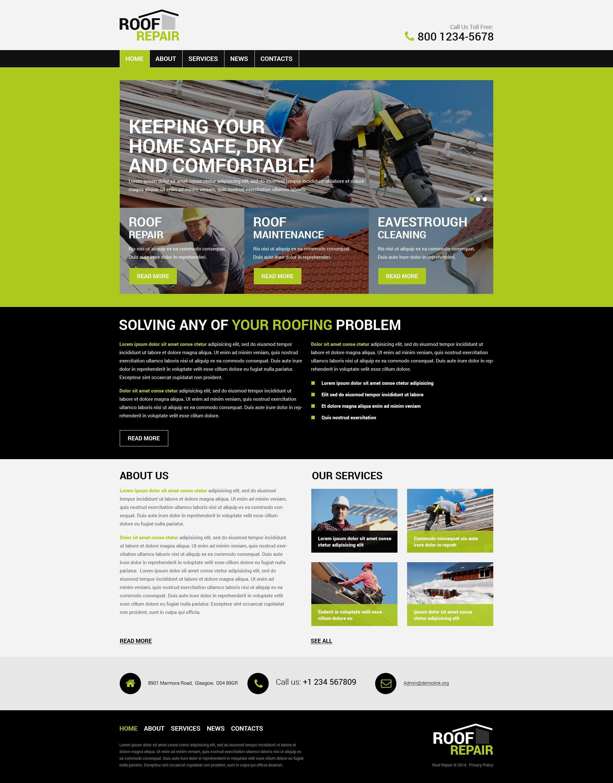 Roofing Company Wordpress Theme 50124 Roofing Companies Wordpress Theme Psd Templates