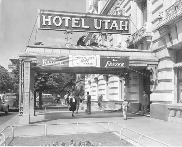 Hotel Utah Sign Slc 1946 With Images Salt Lake City Utah