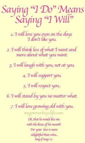 Saying I Do What It Means Love And Marriage Wedding Vows Vows