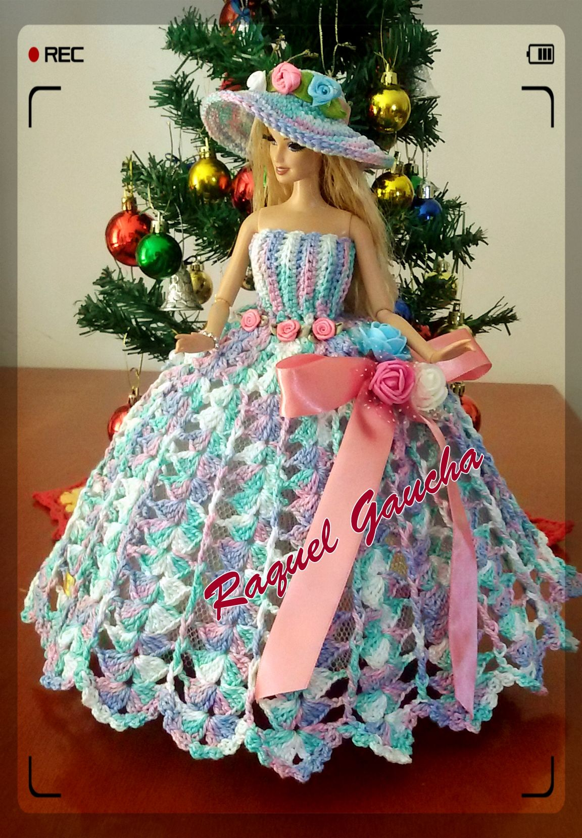 Raquelgaucha Crochet Crochê Tutorial Passoapasso Pasoapaso Ganchillo Comofazer Diy Boneca Mu Crochet Barbie Clothes Crochet Doll Dress Crochet Dress