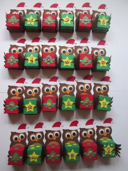 adventskalender eulen unikat von deko ideenreich auf owl holidays pinterest. Black Bedroom Furniture Sets. Home Design Ideas
