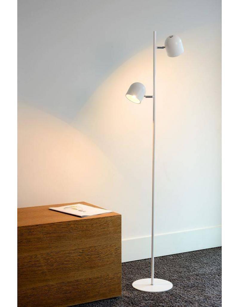 Betere Staande lamp Scandinavisch zwart, wit LED 2x5W 141cm (met PH-75