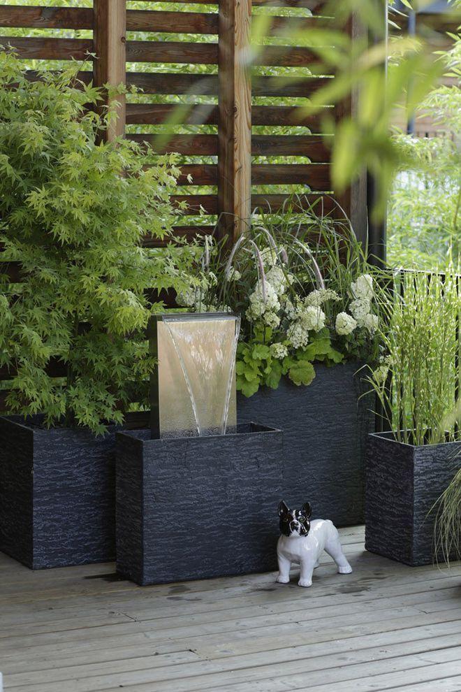 des bacs design pour plantes kert pinterest jardins. Black Bedroom Furniture Sets. Home Design Ideas