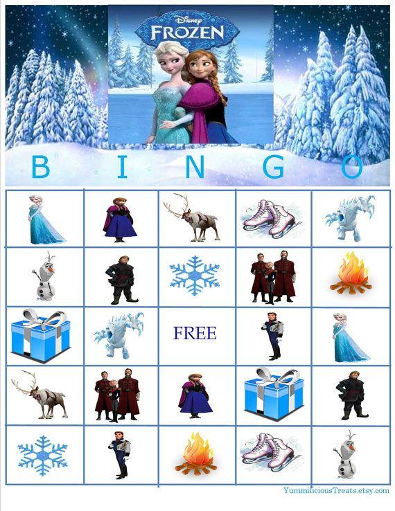 Disney Frozen Bingo Instant Download by YummiliciousTreats