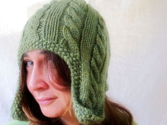 Cabled Earflap Cap Knitting Pattern for Men, Women, and ...