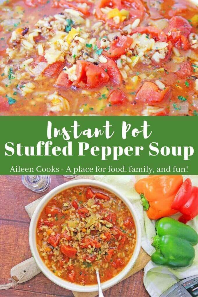 Instant Pot Stuffed Pepper Soup Recipe In 2020 Stuffed Peppers Stuffed Pepper Soup Instant Pot Soup Recipes