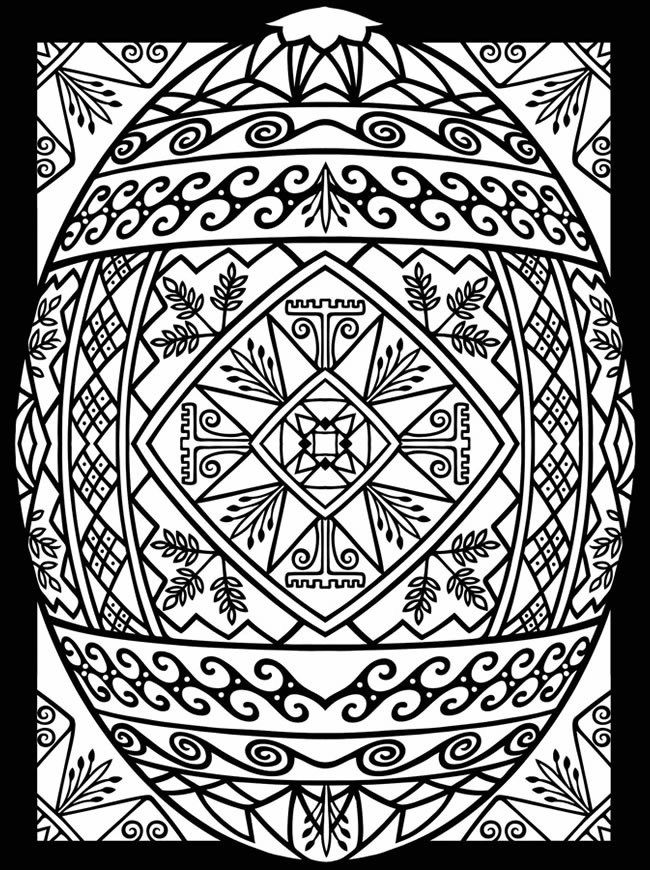 Free Easter Egg Printable Coloring Page For Adults Easter Coloring Pages Egg Coloring Page Coloring Easter Eggs
