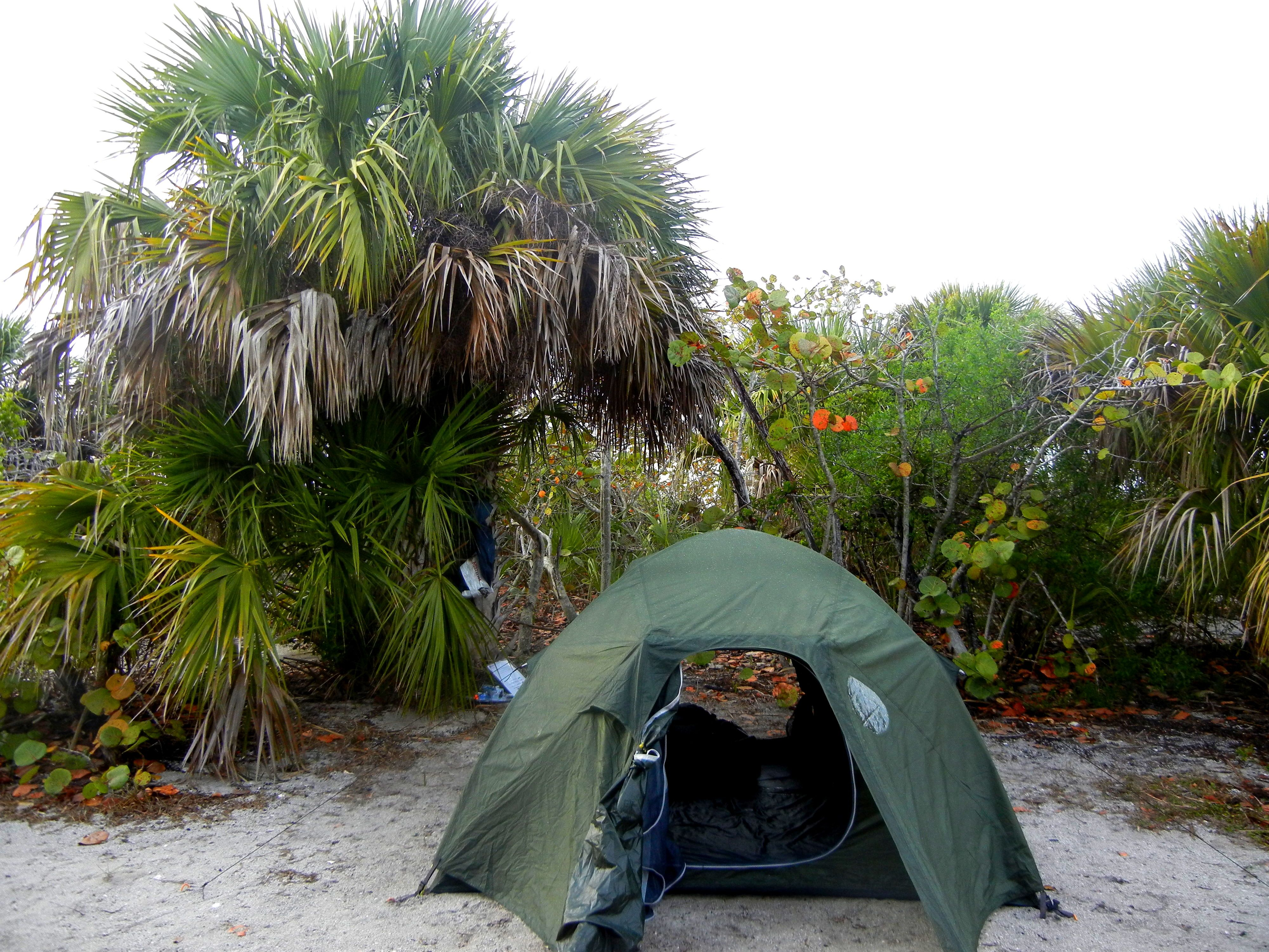 Camp On The Beach At Cayo Costa State Park On The West