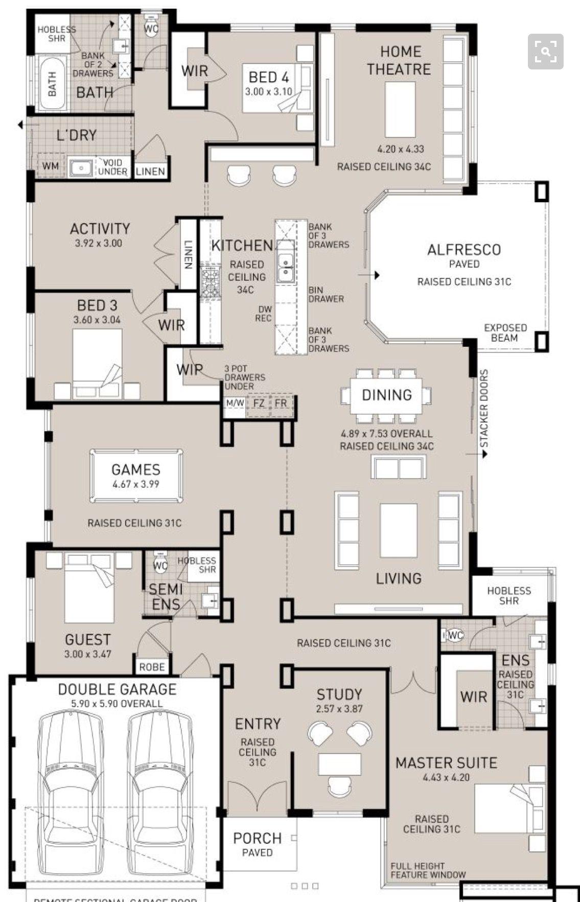 Pin By Kristin Salomon On My Favourite Floor Plans Floor Plans House Plans Dream House Plans