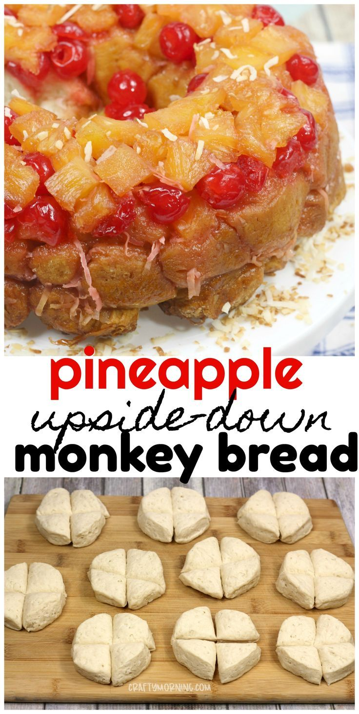 Pineapple Upside Down Monkey Bread - Crafty Morning