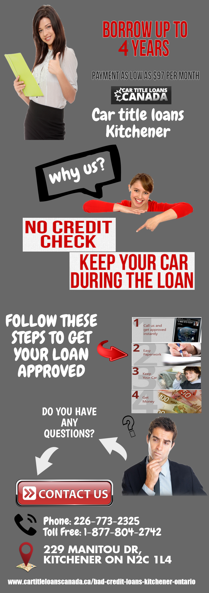 Apply For A Loan With Car Title Loans Kitchener. It Doesn\'t Matter ...
