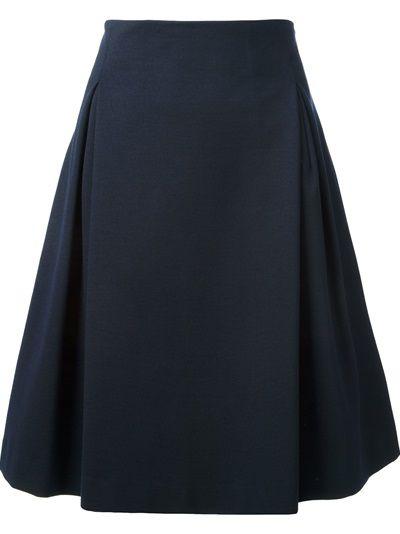JIL SANDER Pleat Detail A-Line Skirt