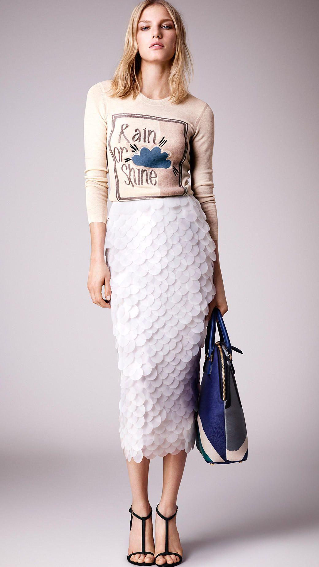 Burberry skirt again.