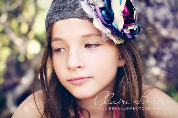 Baby Headbands-Headbands-Neutral Shabby Chic Headband-m2m Persnickety Headband-Matilda Jane Headband-Flower Girl Headband-Fall Wedding