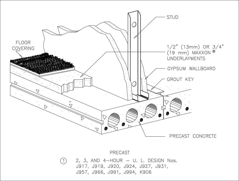 Free Cad Details Precast Concrete Slab Detail Iso Cad