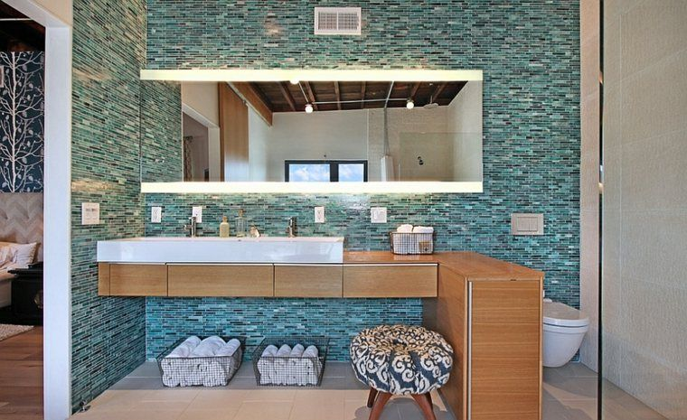 Awesome Salle De Bain Turquoise Et Bois Pictures - lalawgroup.us ...