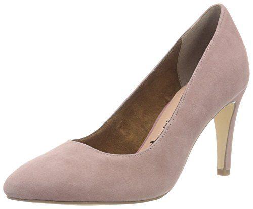 24402, Zapatos de Tacón para Mujer, Rosa (Mauve/Cognac 530), 40 EU Tamaris