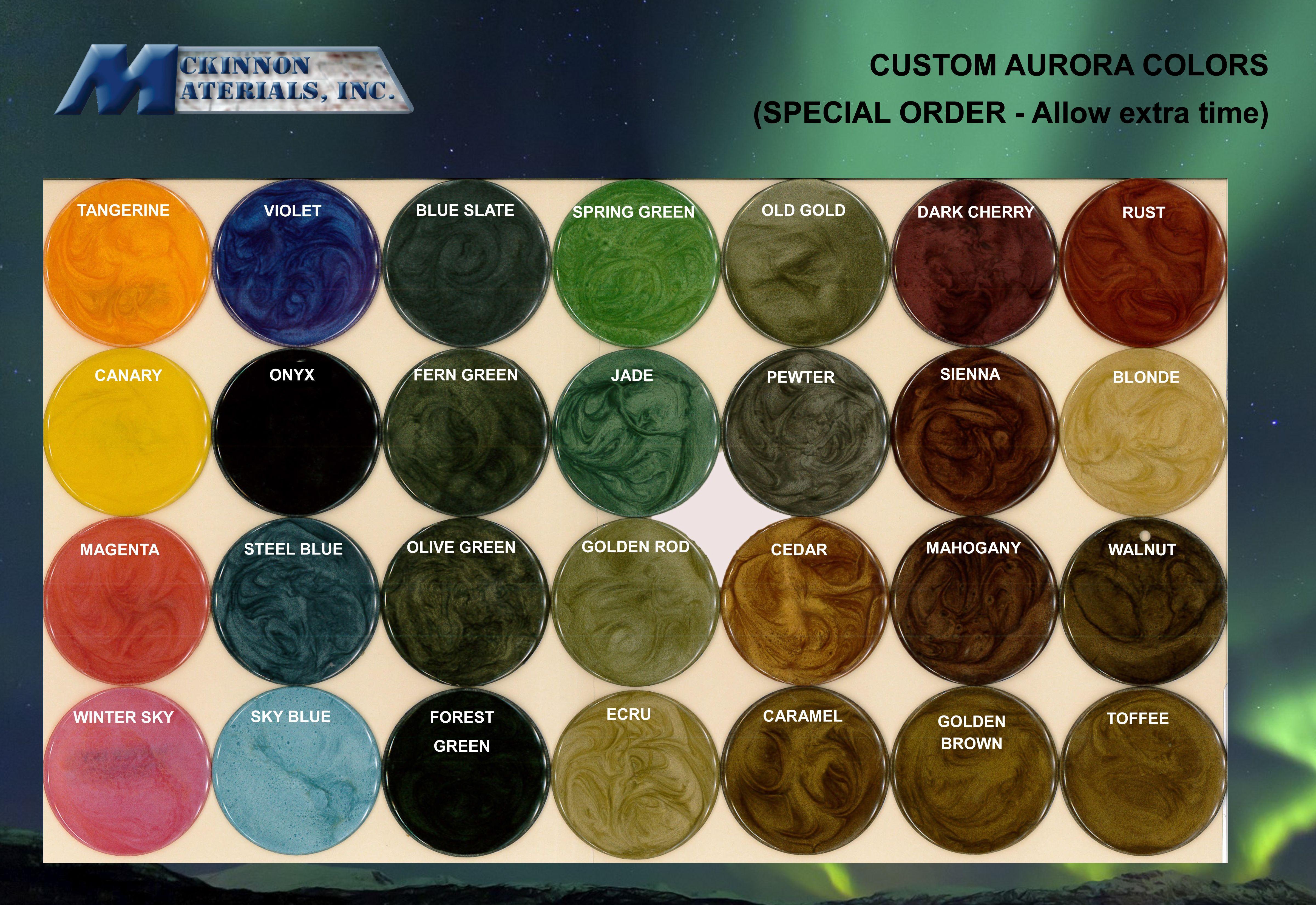 Custom Colors Metallic Epoxy Aurora Epoxy Dust